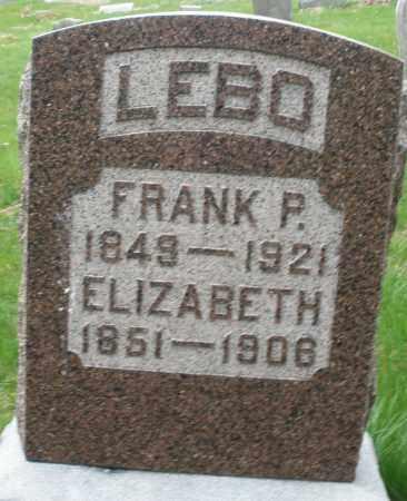 LEBO, FRANK P. - Montgomery County, Ohio   FRANK P. LEBO - Ohio Gravestone Photos