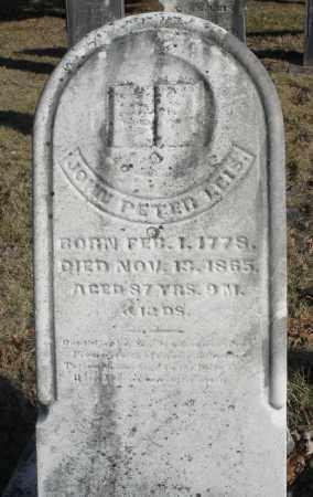 LEIS, JOHN PETER - Montgomery County, Ohio   JOHN PETER LEIS - Ohio Gravestone Photos
