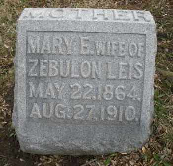 LEIS, MARY E. - Montgomery County, Ohio   MARY E. LEIS - Ohio Gravestone Photos
