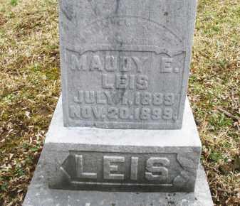 LEIS, MAUDY E. - Montgomery County, Ohio   MAUDY E. LEIS - Ohio Gravestone Photos
