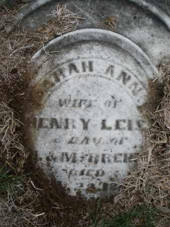 LEIS, SARAH ANN - Montgomery County, Ohio | SARAH ANN LEIS - Ohio Gravestone Photos