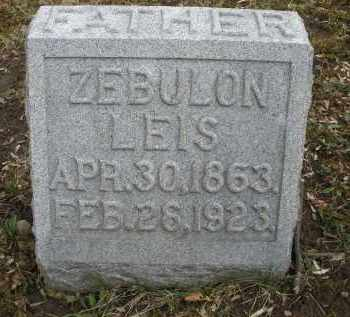 LEIS, ZEBULON - Montgomery County, Ohio   ZEBULON LEIS - Ohio Gravestone Photos