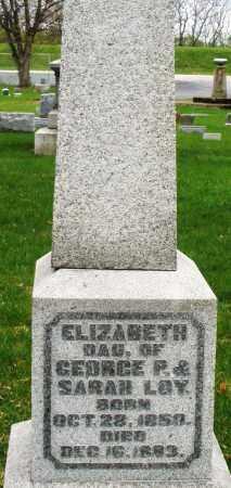 LOY, ELIZABETH - Montgomery County, Ohio   ELIZABETH LOY - Ohio Gravestone Photos