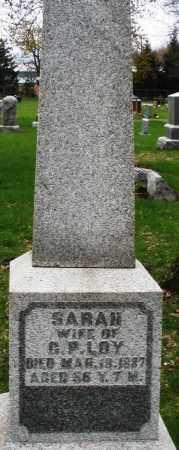 LOY, SARAH - Montgomery County, Ohio   SARAH LOY - Ohio Gravestone Photos