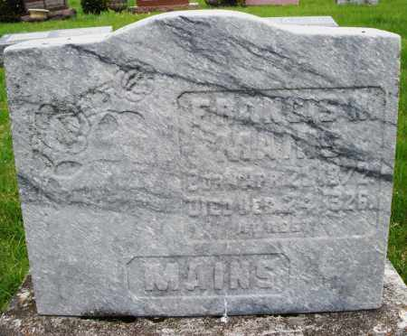 MAINS, FRANCIS N. - Montgomery County, Ohio | FRANCIS N. MAINS - Ohio Gravestone Photos