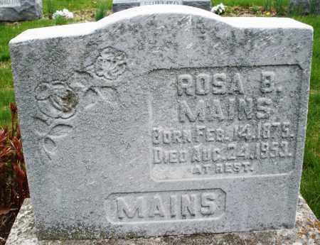MAINS, ROSA B. - Montgomery County, Ohio | ROSA B. MAINS - Ohio Gravestone Photos