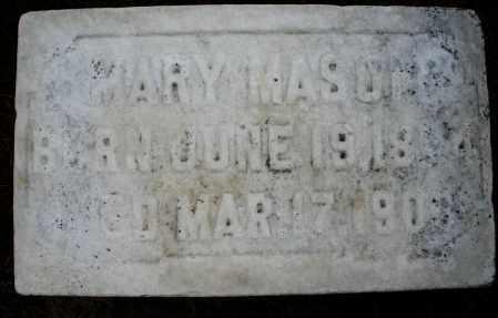 MASON, MARY - Montgomery County, Ohio | MARY MASON - Ohio Gravestone Photos