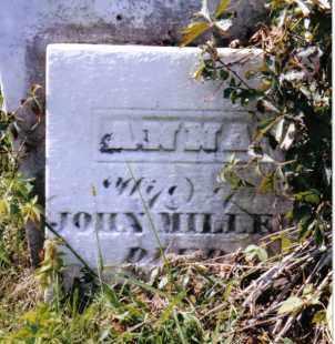 MILLER, ANNA - Montgomery County, Ohio   ANNA MILLER - Ohio Gravestone Photos