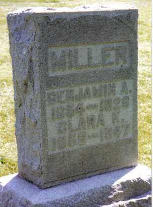 MILLER, BENJAMIN A. - Montgomery County, Ohio | BENJAMIN A. MILLER - Ohio Gravestone Photos