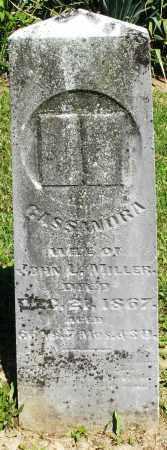 MILLER, CASSANDRA - Montgomery County, Ohio   CASSANDRA MILLER - Ohio Gravestone Photos
