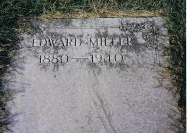 MILLER, EDWARD - Montgomery County, Ohio | EDWARD MILLER - Ohio Gravestone Photos