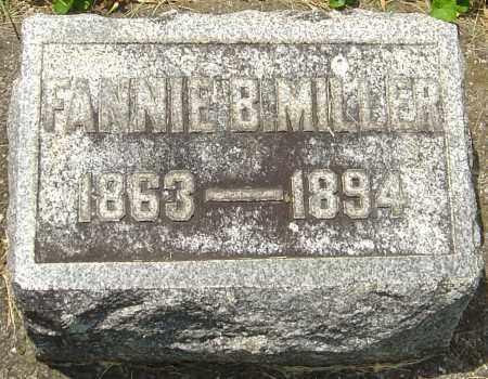 MILLER, FANNIE B - Montgomery County, Ohio   FANNIE B MILLER - Ohio Gravestone Photos