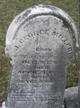 MILLER, J.GEORGE - Montgomery County, Ohio   J.GEORGE MILLER - Ohio Gravestone Photos