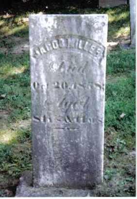 MILLER, JACOB - Montgomery County, Ohio | JACOB MILLER - Ohio Gravestone Photos