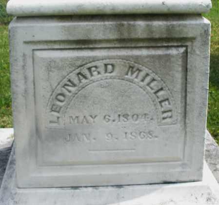 MILLER, LEONARD - Montgomery County, Ohio   LEONARD MILLER - Ohio Gravestone Photos