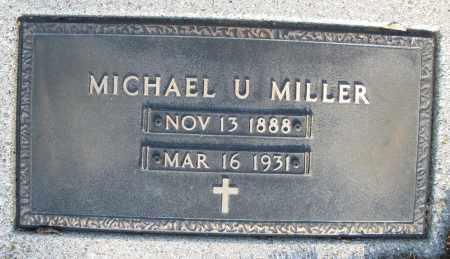 MILLER, MICHAEL U. - Montgomery County, Ohio | MICHAEL U. MILLER - Ohio Gravestone Photos