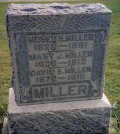 MILLER, MOSES H. - Montgomery County, Ohio   MOSES H. MILLER - Ohio Gravestone Photos