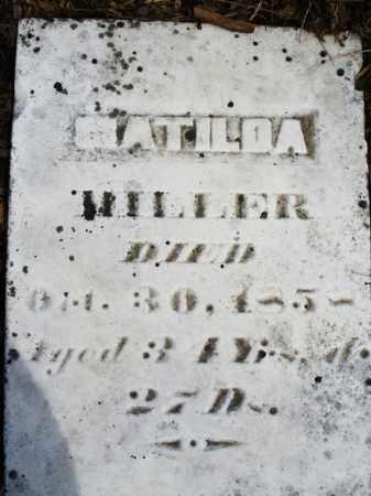 MILLER, MATILDA - Montgomery County, Ohio   MATILDA MILLER - Ohio Gravestone Photos