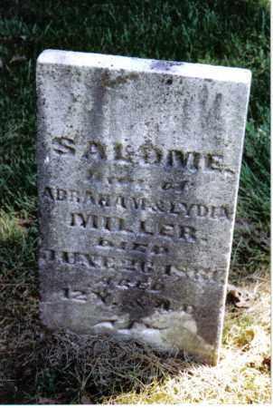 MILLER, SALOME - Montgomery County, Ohio | SALOME MILLER - Ohio Gravestone Photos