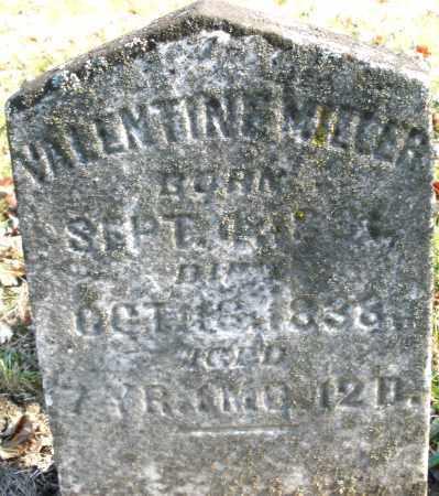 MILLER, VALENTINE - Montgomery County, Ohio | VALENTINE MILLER - Ohio Gravestone Photos