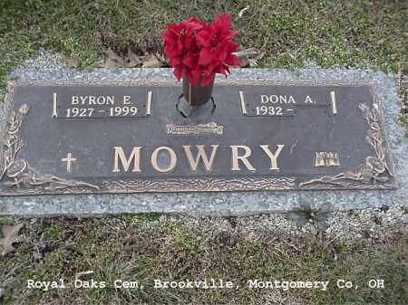 MOWRY, BYRON - Montgomery County, Ohio | BYRON MOWRY - Ohio Gravestone Photos