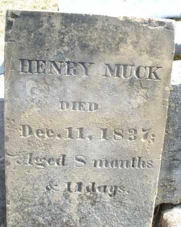 MUCK, HENRY - Montgomery County, Ohio   HENRY MUCK - Ohio Gravestone Photos
