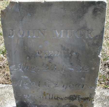 MUCK, JOHN SR - Montgomery County, Ohio   JOHN SR MUCK - Ohio Gravestone Photos