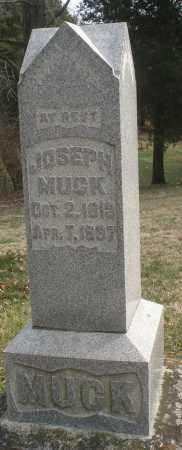 MUCK, JOSEPH - Montgomery County, Ohio   JOSEPH MUCK - Ohio Gravestone Photos