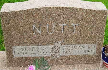 NUTT, EDITH K - Montgomery County, Ohio | EDITH K NUTT - Ohio Gravestone Photos