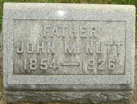 NUTT, JOHN MARION - Montgomery County, Ohio | JOHN MARION NUTT - Ohio Gravestone Photos
