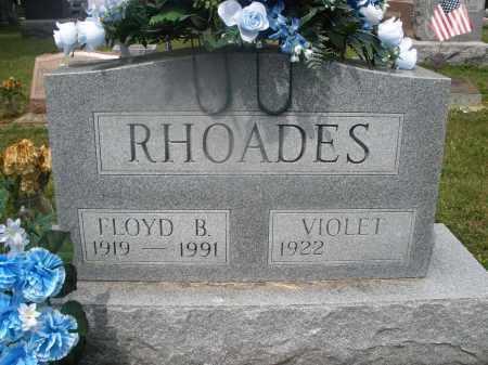 RHOADES, FLOYD B. - Montgomery County, Ohio | FLOYD B. RHOADES - Ohio Gravestone Photos
