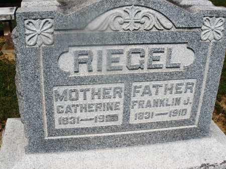 RIEGEL, CATHERINE - Montgomery County, Ohio | CATHERINE RIEGEL - Ohio Gravestone Photos