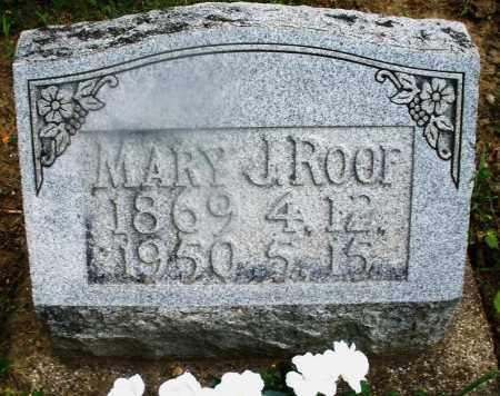 ROOF, MARY J. - Montgomery County, Ohio   MARY J. ROOF - Ohio Gravestone Photos