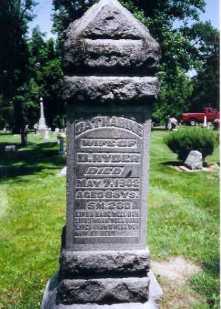 RYDER, CATHERINE - Montgomery County, Ohio   CATHERINE RYDER - Ohio Gravestone Photos