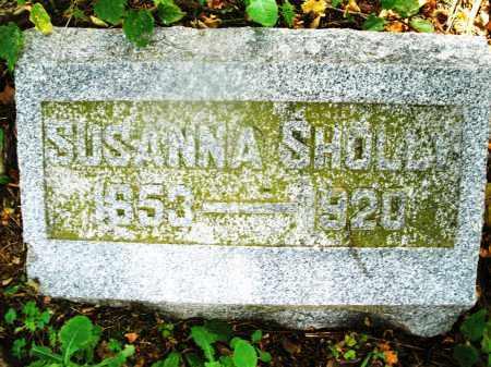SHOLLY, SUSANNA - Montgomery County, Ohio   SUSANNA SHOLLY - Ohio Gravestone Photos