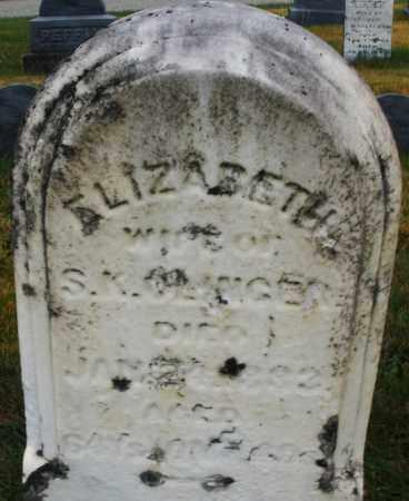 SLINGER, ELIZABETH - Montgomery County, Ohio | ELIZABETH SLINGER - Ohio Gravestone Photos