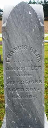 KERN SPITLER, FRANCIS - Montgomery County, Ohio | FRANCIS KERN SPITLER - Ohio Gravestone Photos