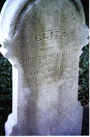 ULLERY, ELIZA - Montgomery County, Ohio   ELIZA ULLERY - Ohio Gravestone Photos