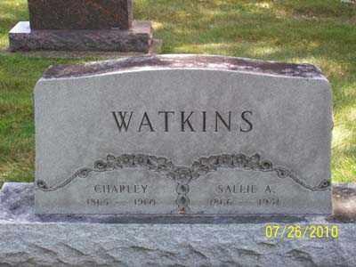 WATKINS, SALLIE A - Montgomery County, Ohio | SALLIE A WATKINS - Ohio Gravestone Photos