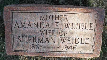 WEIDLE, AMANDA E. - Montgomery County, Ohio   AMANDA E. WEIDLE - Ohio Gravestone Photos
