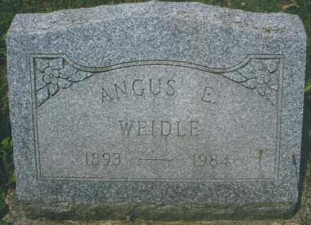WEIDLE, ANGUS EDGAR - Montgomery County, Ohio   ANGUS EDGAR WEIDLE - Ohio Gravestone Photos