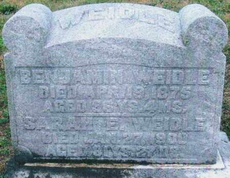 WEIDLE, BENJAMIN - Montgomery County, Ohio   BENJAMIN WEIDLE - Ohio Gravestone Photos