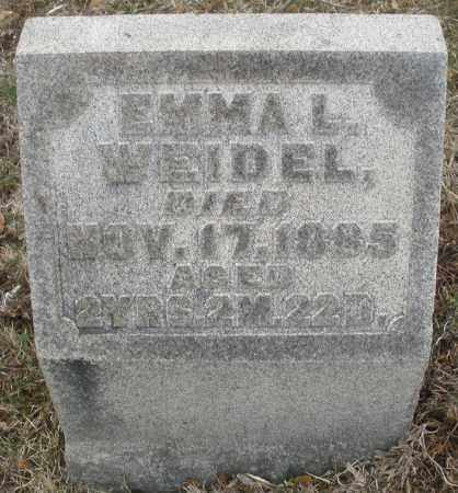WEIDLE, EMMA L. - Montgomery County, Ohio   EMMA L. WEIDLE - Ohio Gravestone Photos