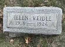 WEIDLE, HELEN - Montgomery County, Ohio | HELEN WEIDLE - Ohio Gravestone Photos