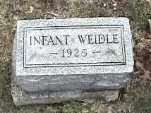WEIDLE, INFANT - Montgomery County, Ohio   INFANT WEIDLE - Ohio Gravestone Photos