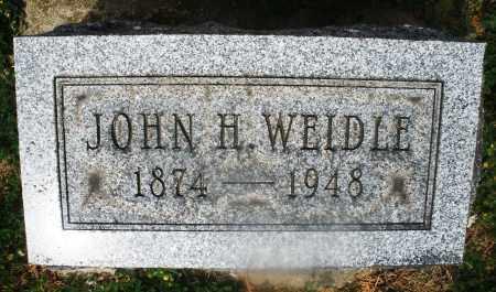 WEIDLE, JOHN H. - Montgomery County, Ohio   JOHN H. WEIDLE - Ohio Gravestone Photos