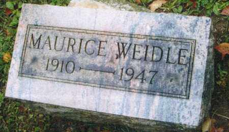 WEIDLE, MAURICE - Montgomery County, Ohio   MAURICE WEIDLE - Ohio Gravestone Photos