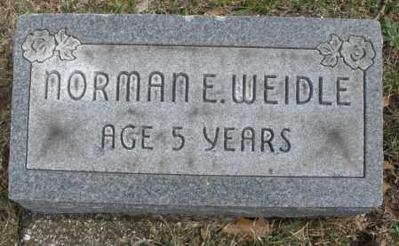 WEIDLE, NORMAN E. - Montgomery County, Ohio   NORMAN E. WEIDLE - Ohio Gravestone Photos