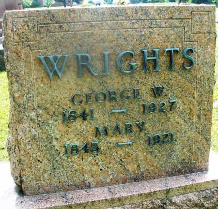 WRIGHTS, GEORGE W. - Montgomery County, Ohio | GEORGE W. WRIGHTS - Ohio Gravestone Photos