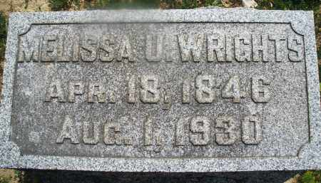 WRIGHTS, MELISSA U. - Montgomery County, Ohio | MELISSA U. WRIGHTS - Ohio Gravestone Photos